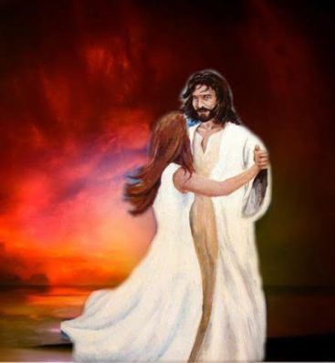 Jesus with Olga